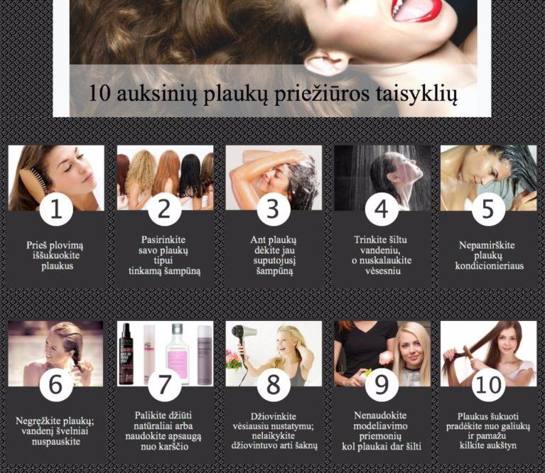 Plaukų priežiūra: 10 pagrindinių klaidų ir taisyklių