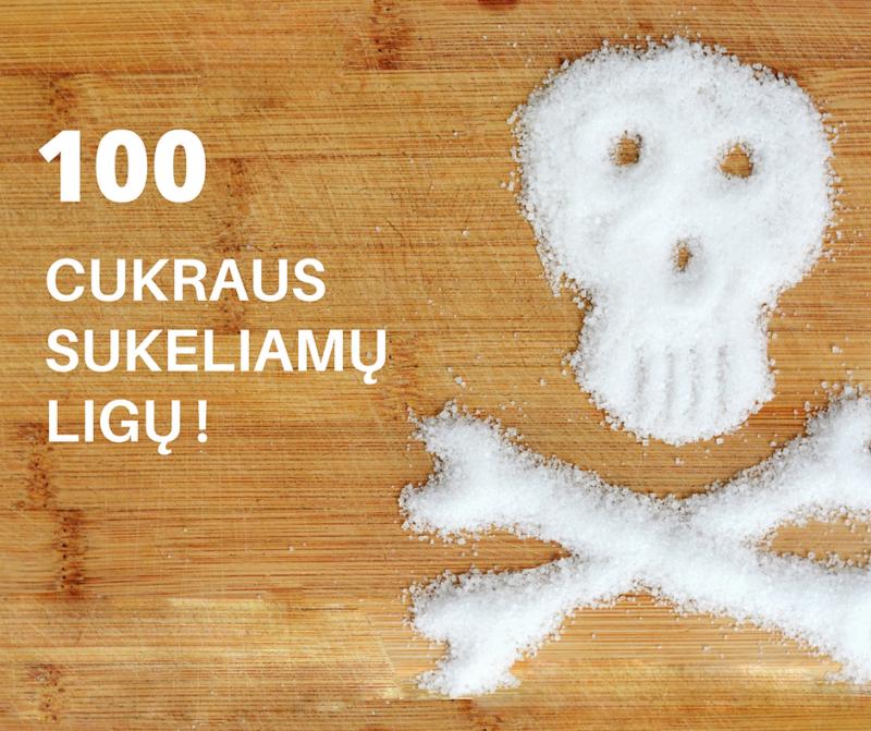 100 cukraus sukeliamų ligų: galbūt atėjo metas jam ištarti NE?