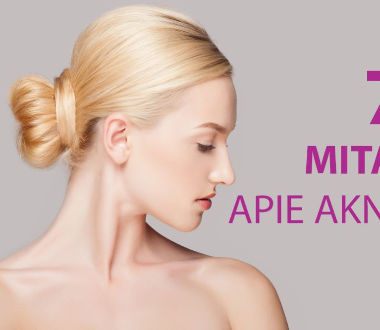 Aknė: 7 populiariausi mitai apie gydymą