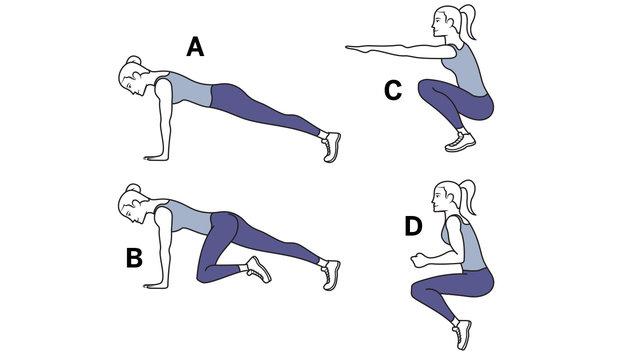 Efektyviai riebalus tirpdanti vienos minutės treniruotė